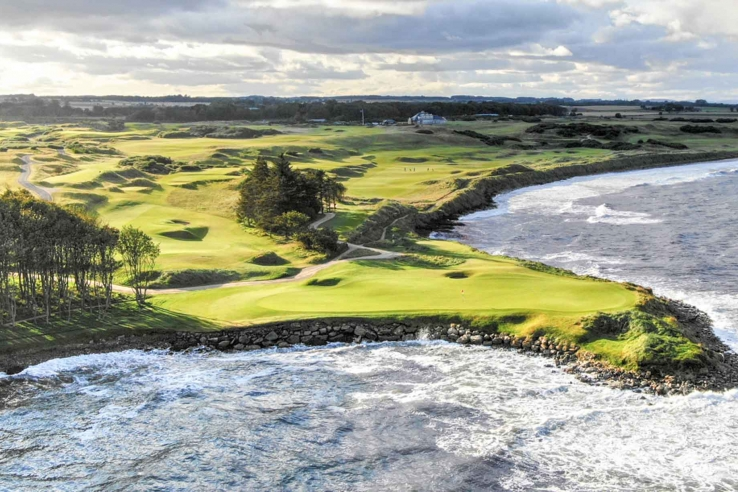 The amazing views of Kingsbarns from the North Sea.
