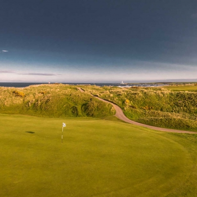 The 3rd hole at Montrose Golf Links.