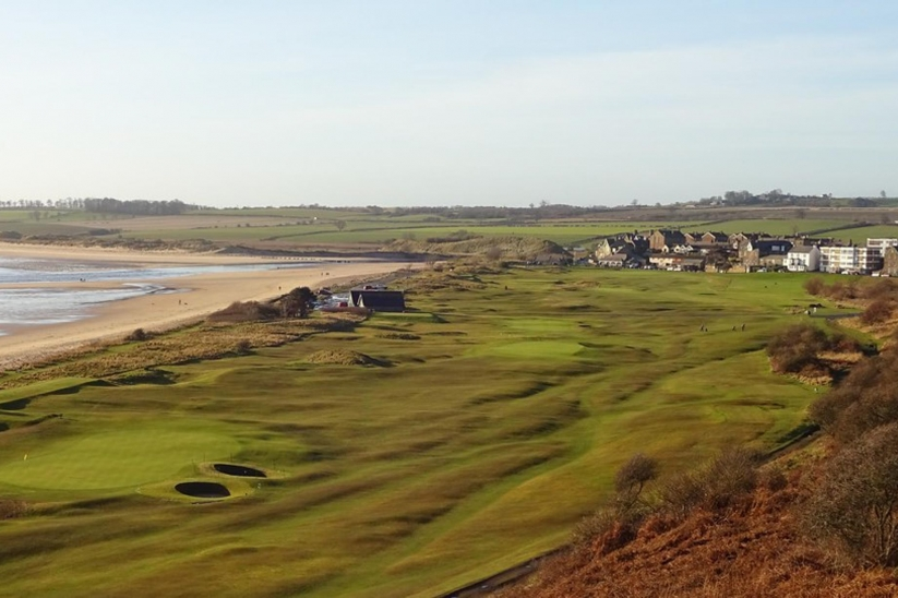 A photo of the Alnmouth Village Golf Club Links.