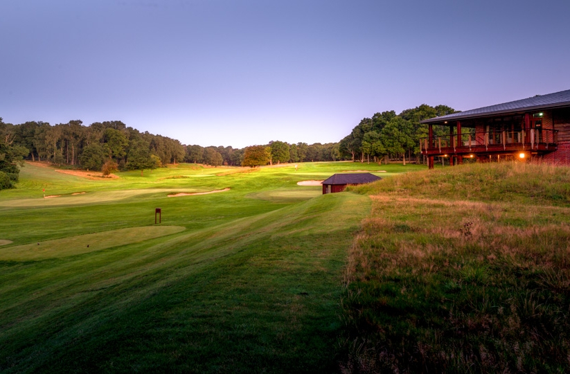 The clubhouse at Ashridge Golf Club.