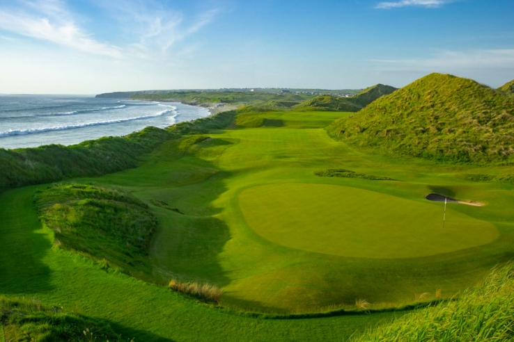 A photo of the Ballybunion Old links golf course.