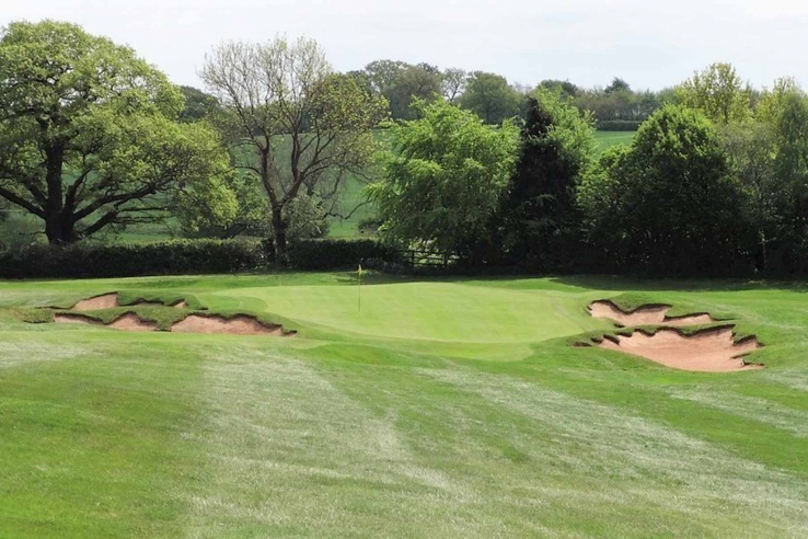 The new Fowler and Simpson style bunkers at Blackwell Golf Club.