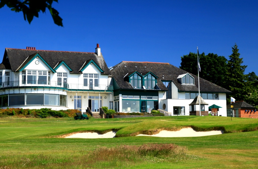The clubhouse at Bruntsfield Links.