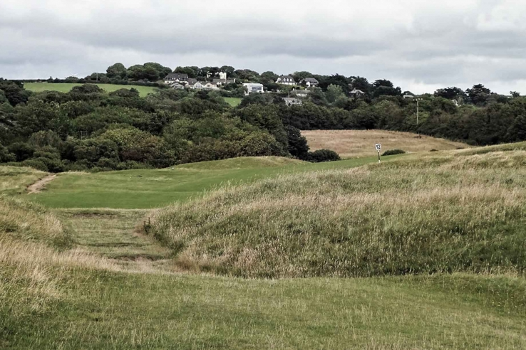 The classic feel of a seaside links with blind shots at Bude Golf Club.