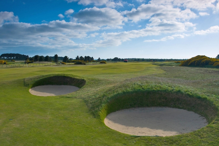 The bunkers are what you come to see and experience at Carnoustie Golf Links Championship Golf Course.
