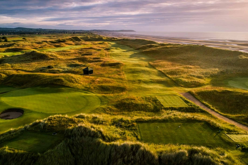 A tee and fairway at County Louth Golf Club.