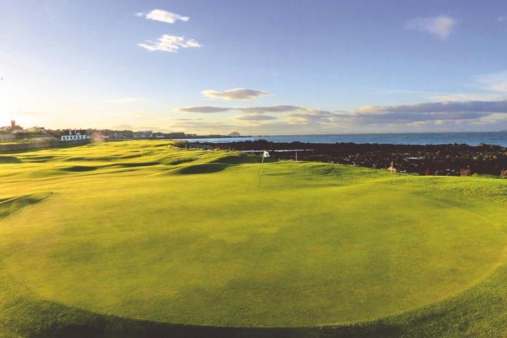A green complex at Dunbar Golf Club.