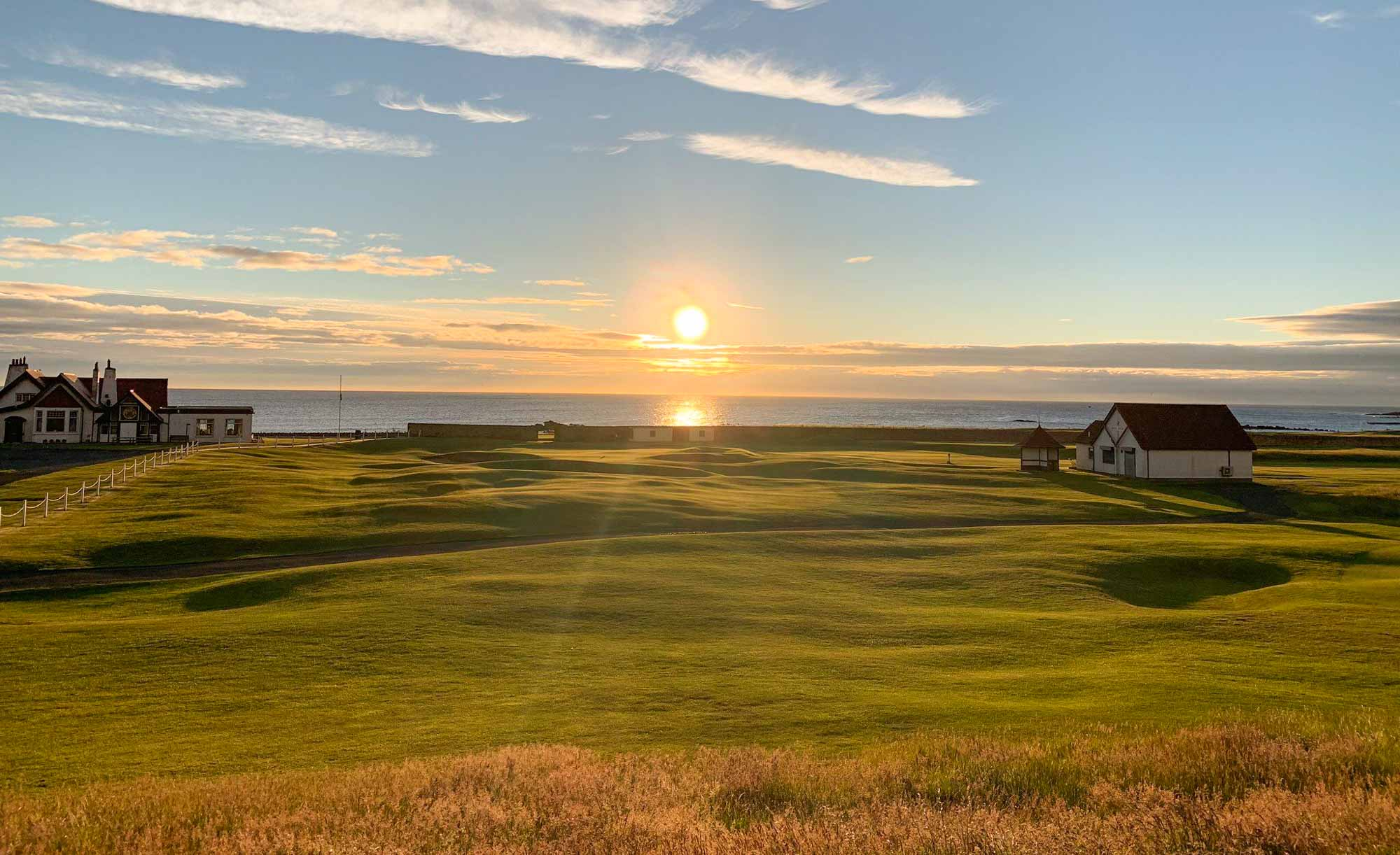 The rumpled ground of Dunbar Golf Club.