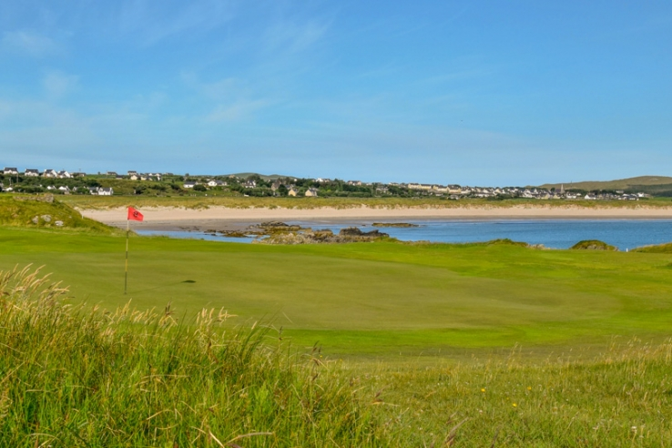 The 8th hole at Dunfanaghy Golf Club.