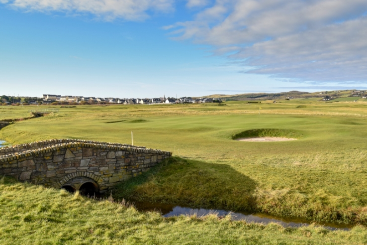 A photo of Dunfanaghy Golf Club's own Swilcan Bridge.