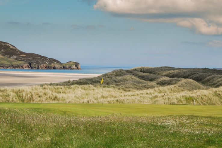 The wild dunes at Dunfanaghy Golf Club.