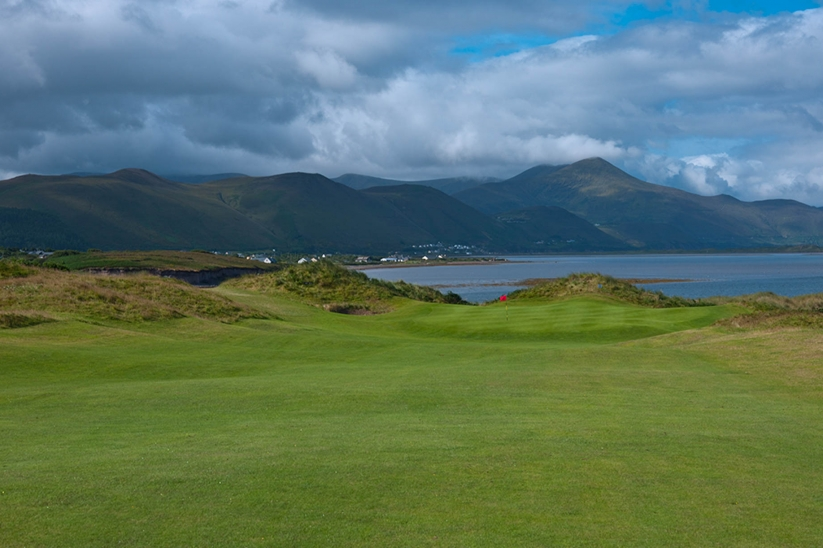 A photo of the seaside links at Dooks Golf Club.