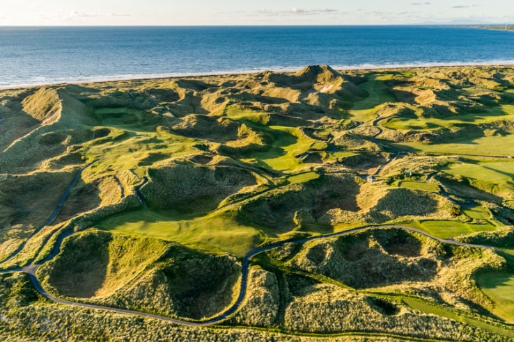Ripples and rolls of the links golf at Enniscrone.