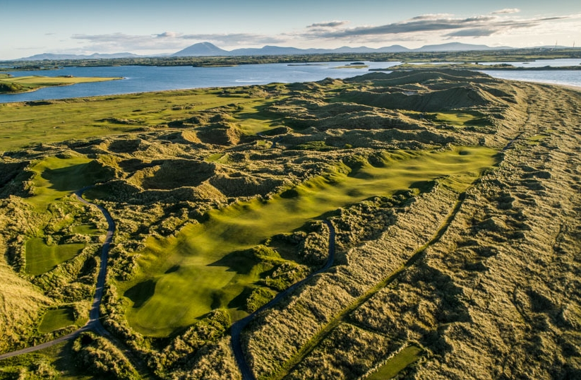 The dunes of ireland at Enniscrone Golf Club.