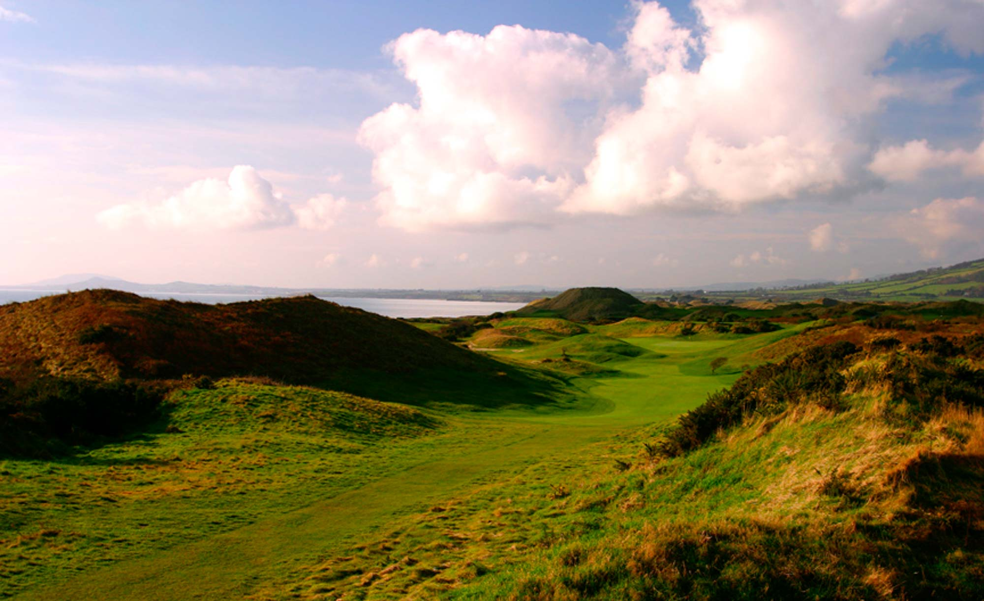 The 17th hole at The European Club in Ireland.