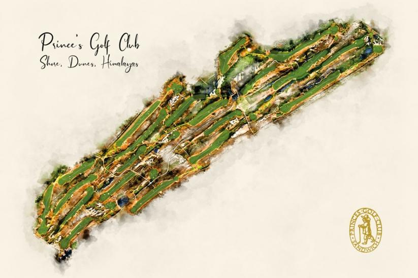 The Evalu18 Course Map or Princes Golf Club