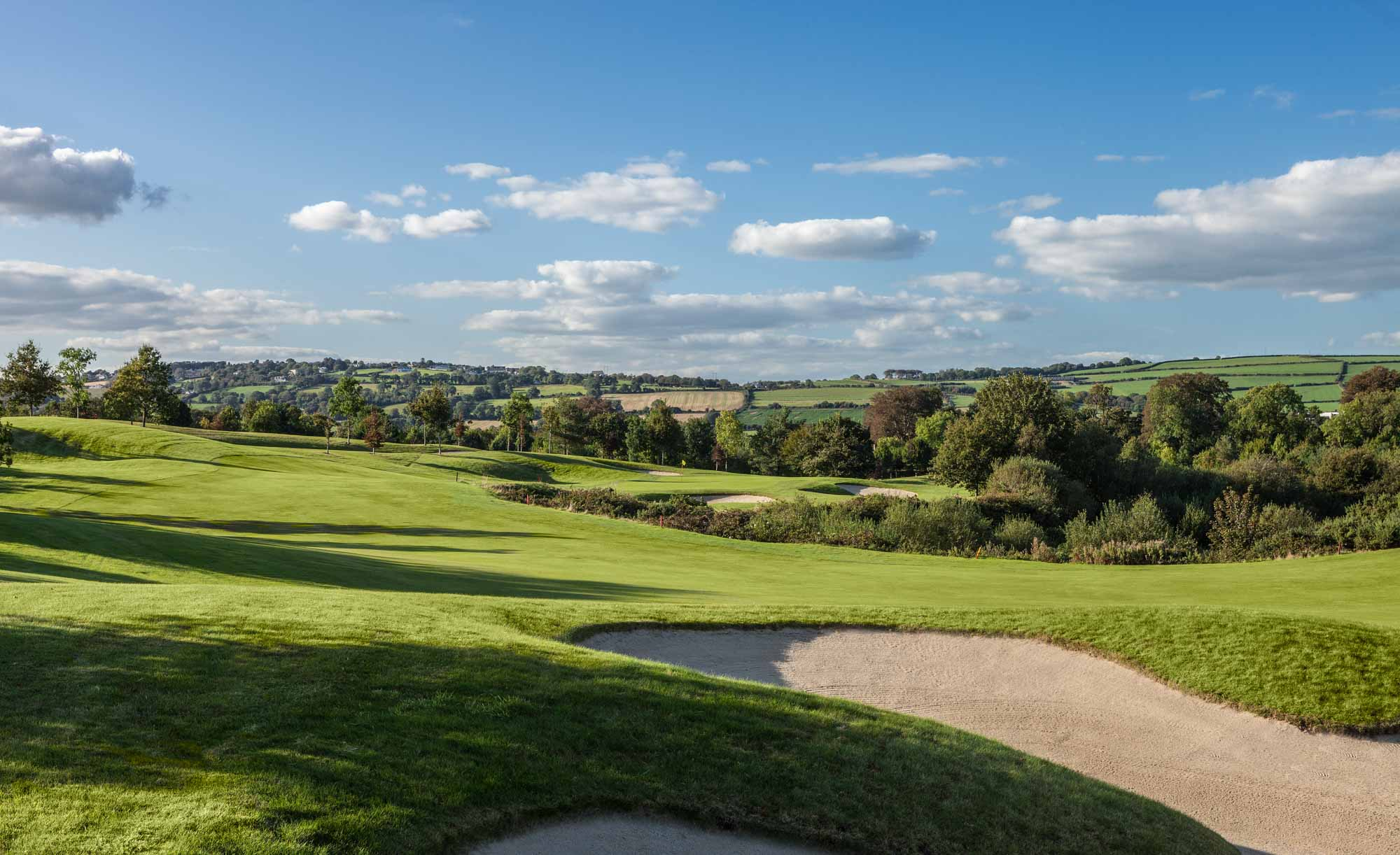 A photo of the Deerpark Course at Fota Island Golf Club Cork.