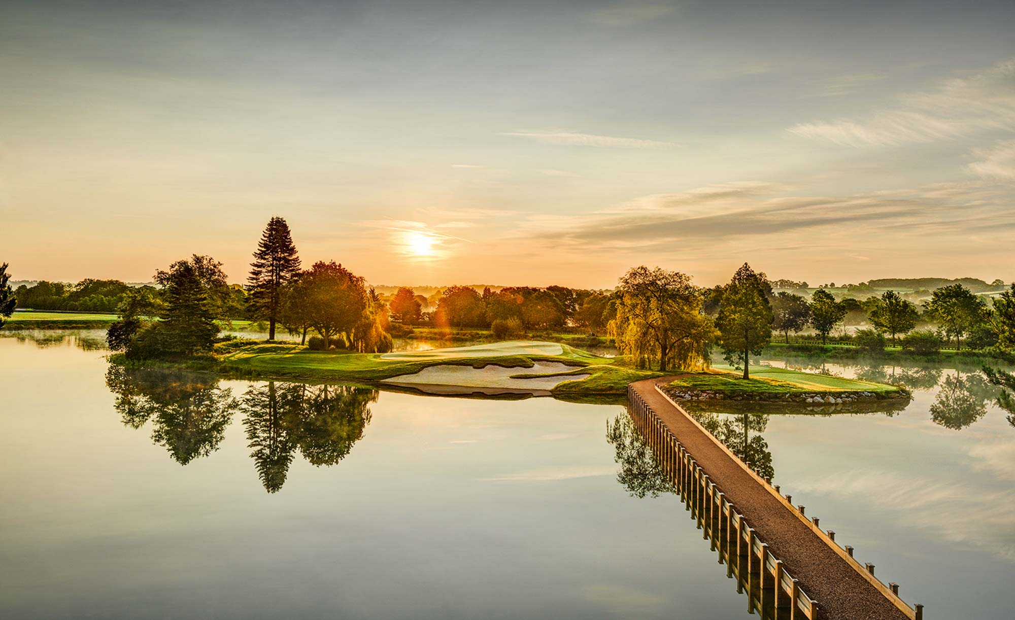The island green at JCB Golf & Country Club.