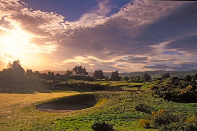 The inland golf course at Gleneagles Kings golf course.