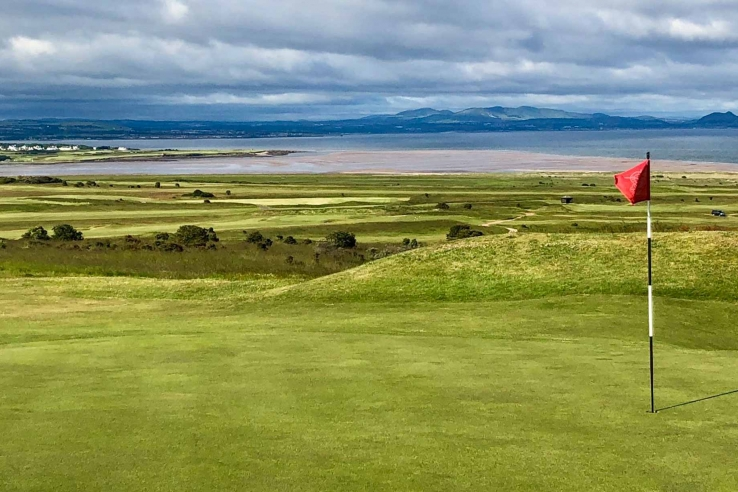 The views at Gullane Golf Club No. 1 golf course are superb.