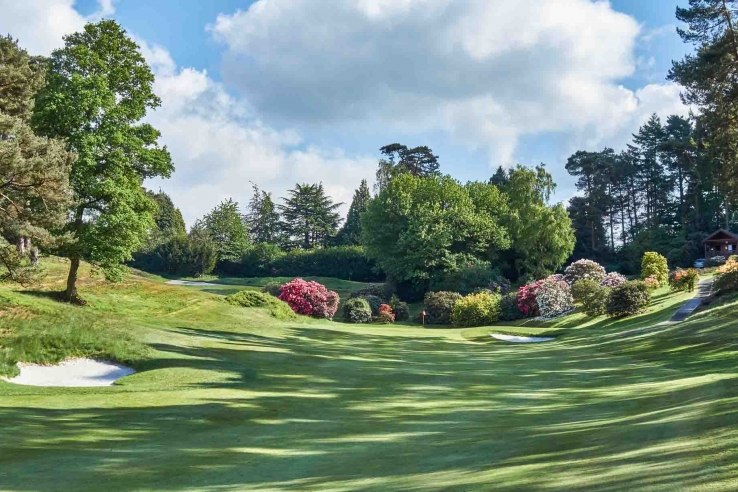 The almost Augusta like feel is seen here at Hindhead Golf Club.