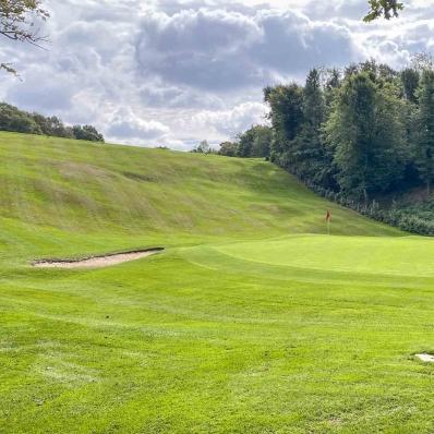 The iconic 11th at Denham Golf Club.