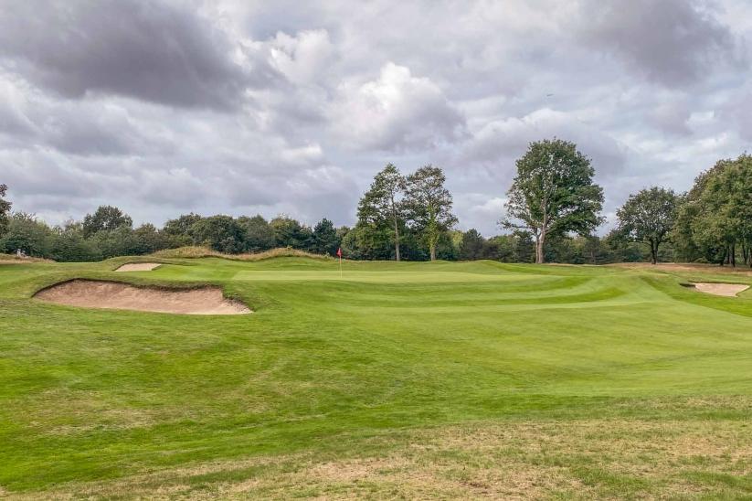 James Braid's later green at Denham Golf Club.
