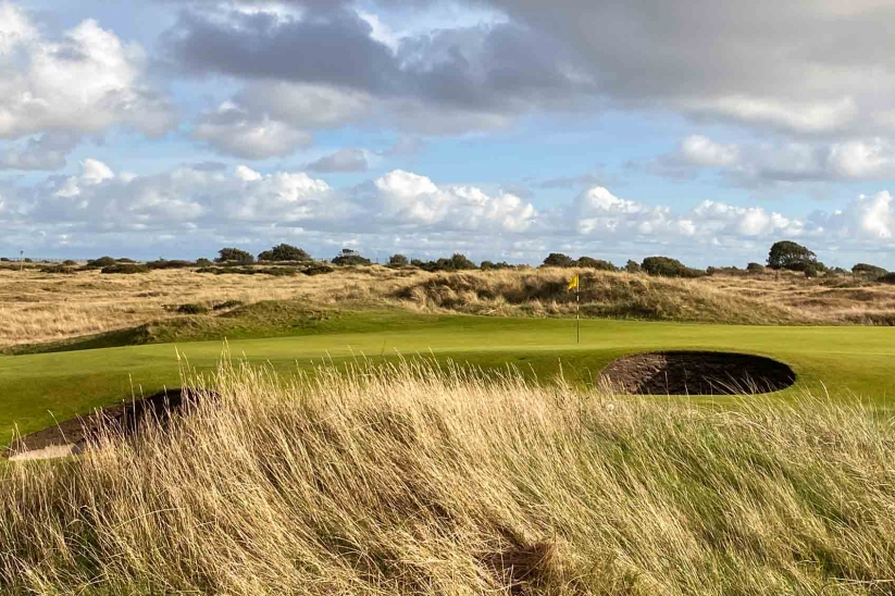 The iconic 10th at Hayling Golf Club.