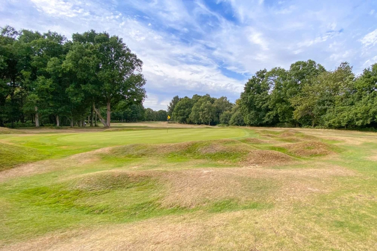 Mounding around green at Berkhamsted