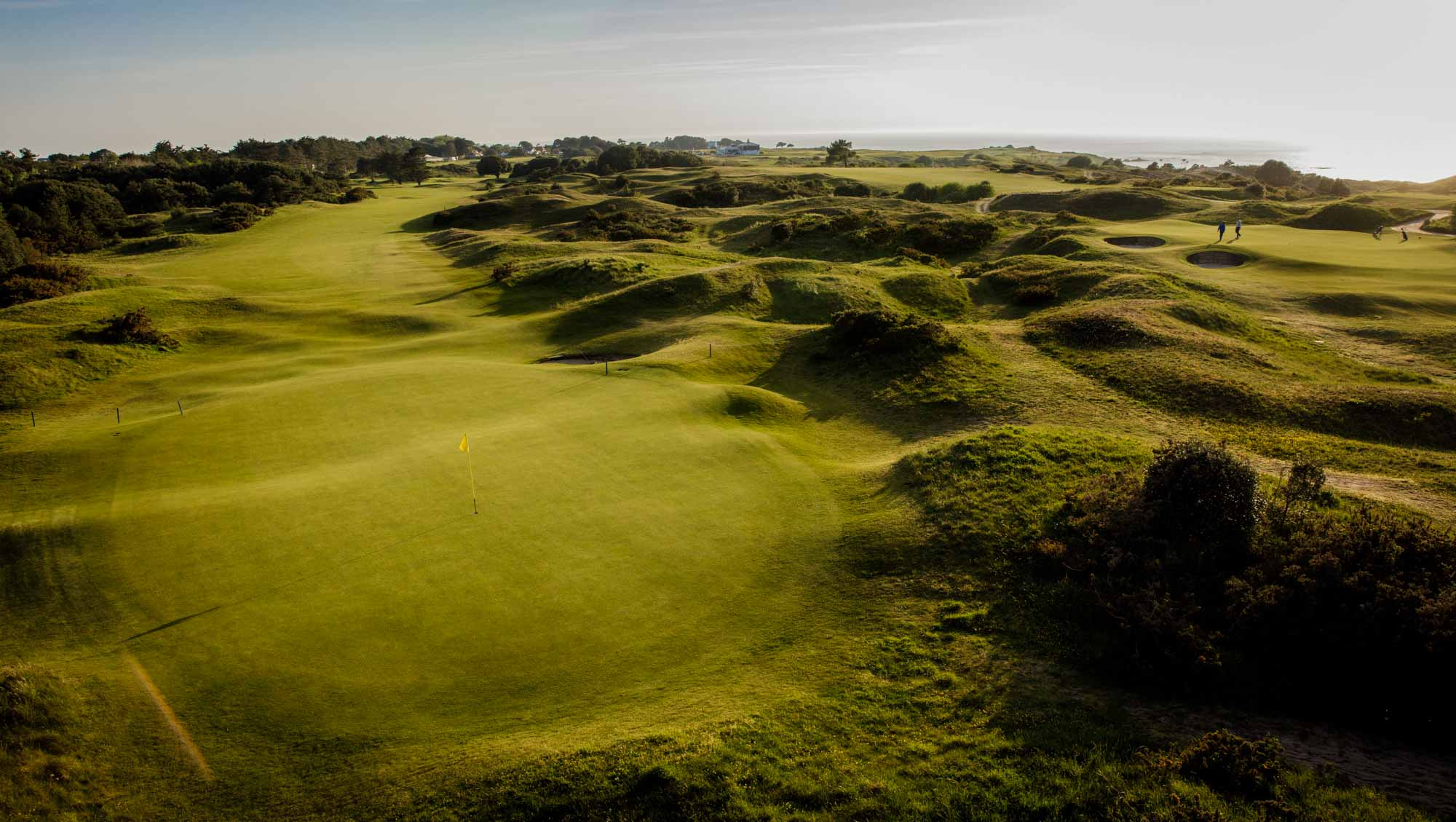 The rumbled ground of the classic links at La Moye Golf Club.