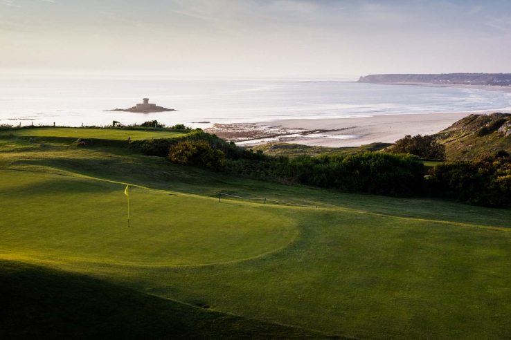 The view of the Atlantic from La Moye Golf Club.