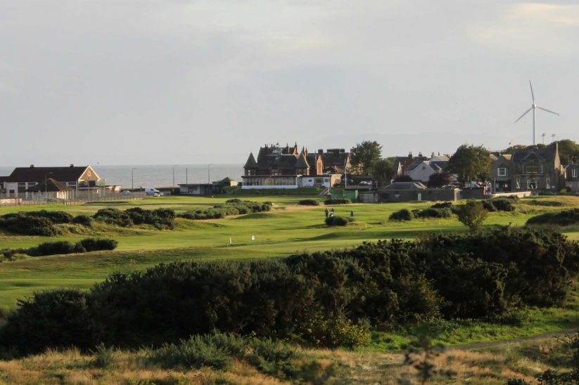 The Old Tom Morris Leven Links in Fife, Scotland.