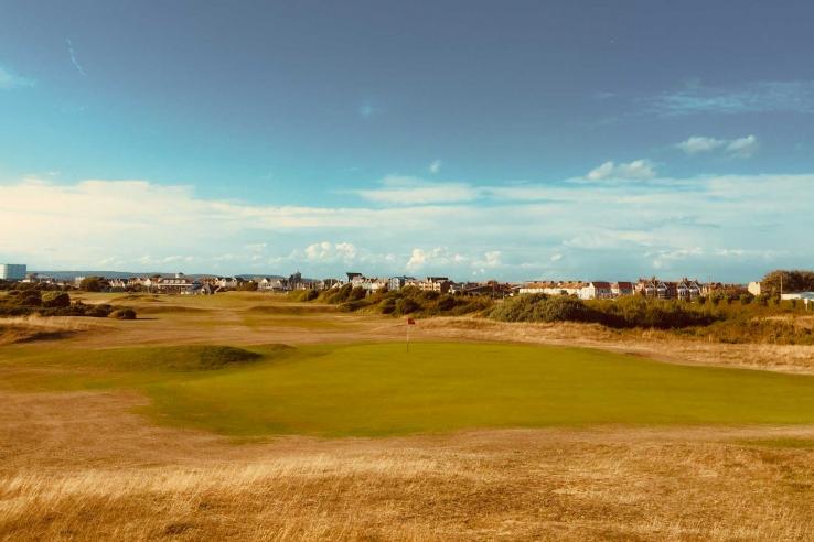 The 1st hole at Littlehampton Golf Club.