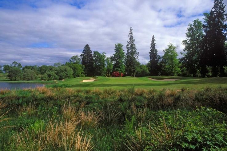 A beautiful par three at Loch Lomond Golf Course.