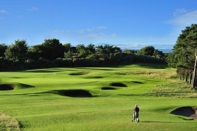 The 4th hole at Longniddry Golf Club.