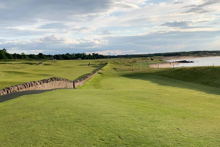 The walls come into play and add strategic value as shown here at North Berwick Golf Club.