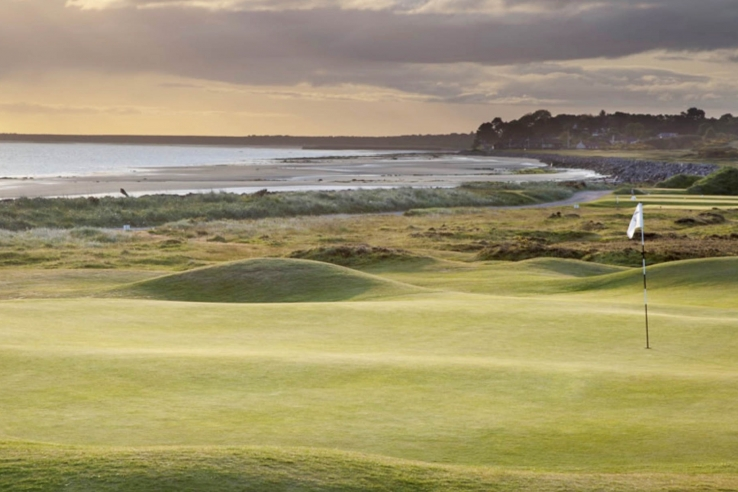The humps and hollows of Nairn Golf Club.
