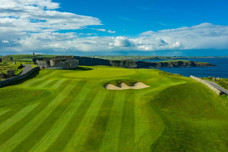 The striped fairways of Old Head.
