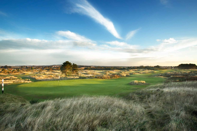 The 6th hole at Panmure Golf Club.