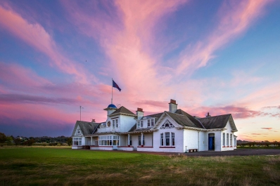 The clubhouse at Panmure Golf Club.