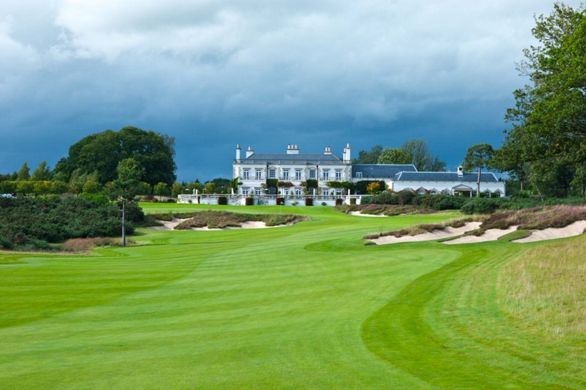 The stunning clubhosue at Queenwood Golf Course.