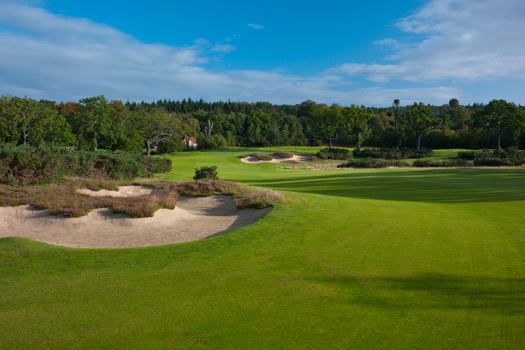 The strategic bunkering at Queenwood Golf Course.