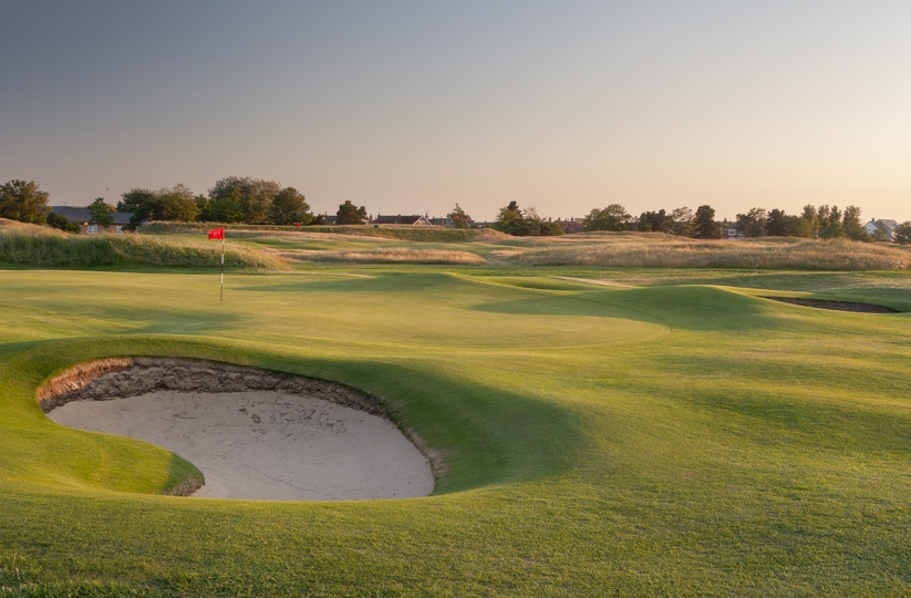 The 13th hole at Royal Lytham & St Annes Golf Club.
