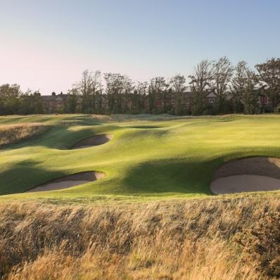 The 9th hole at Royal Lytham & St Annes Golf Club.