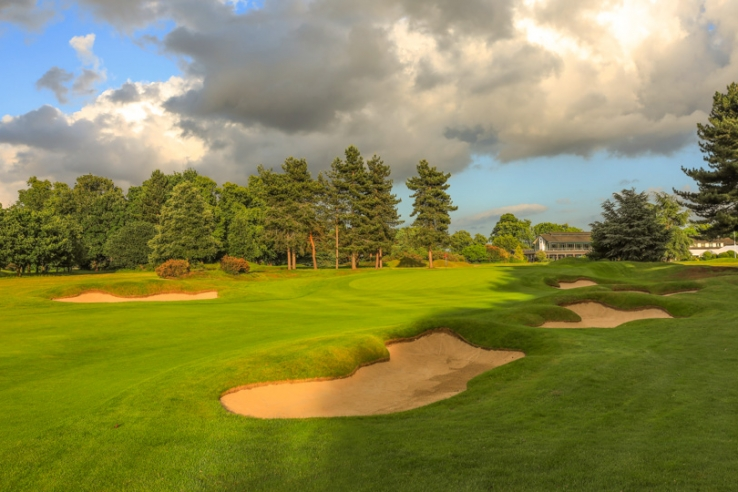 The 10th green at Royal Mid-Surrey Golf Club.