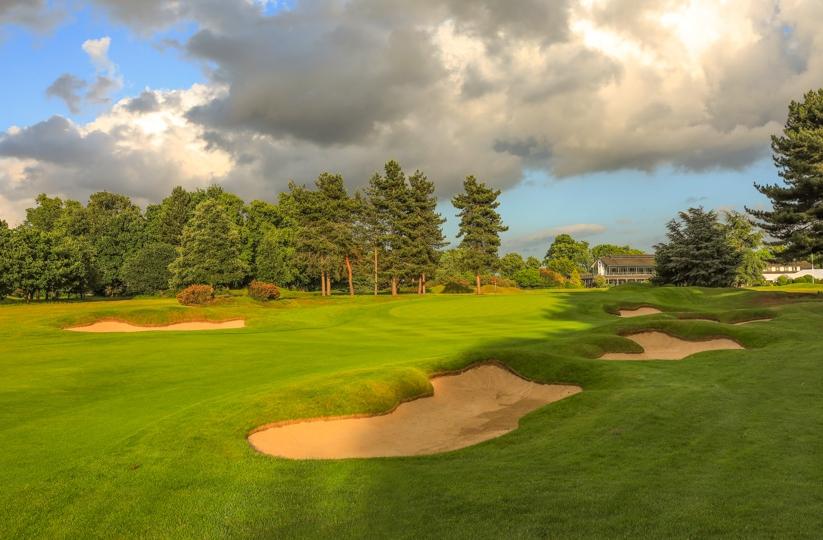 The 10th green at Royal Mid-Surrey Golf Club.