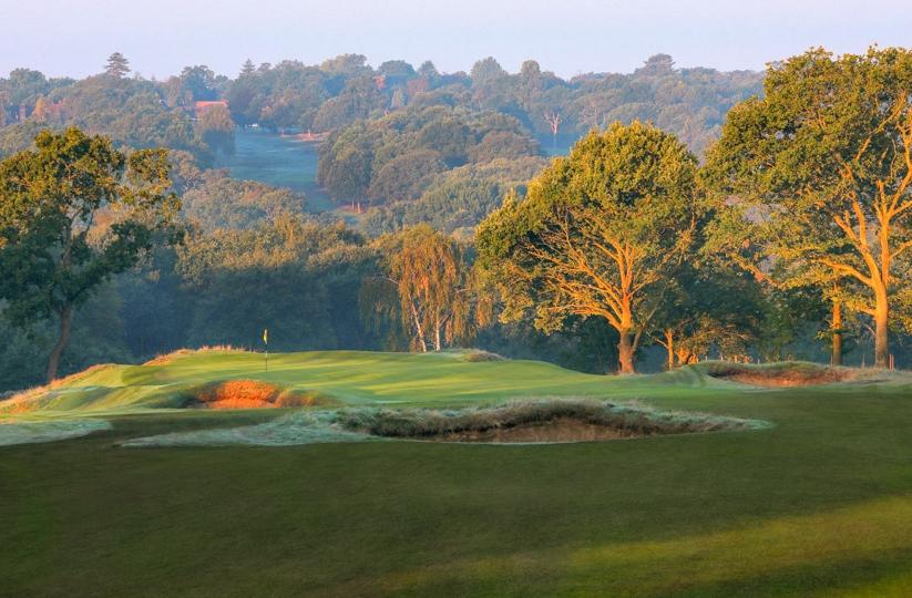 The 11th green at Royal Wimbledon Golf Club.