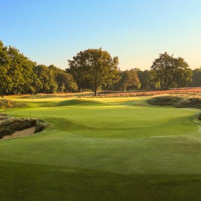 The 9th hole at Royal Wimbledon Golf Club.