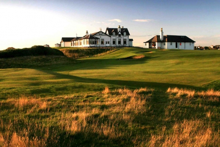 The clubhouse at Royal Aberdeen Golf Club.