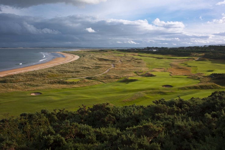 The links golf course at Royal Dornoch.